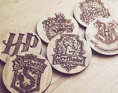 Harry Potter Wooden Coasters