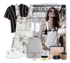 """""""Tricky Trend: Overalls"""" by purenaturaldiva ❤ liked on Polyvore featuring Theory, Versus, MICHAEL Michael Kors, TrickyTrend, naturalbeauty, overalls, organicbeauty and purenaturaldiva"""