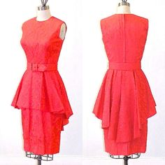Vintage 1950s Red Lace Peplum Dress by daisyandstella, $135.00  https://www.etsy.com/listing/105296083/vintage-1950s-cocktail-dress-red-lace?ref=shop_home_active_1