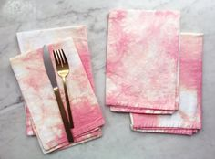 Best of Etsy: Shibori Linens by Flora Poste Studio - Katie Considers Shibori, Print Patterns, Flora, Napkins Set, Tableware, Salmon, Prints, Tie Dye, Textiles