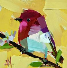 angela moulton's painting a day: Rose Finch no. 32 Painting