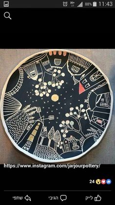 Excellent Photo pottery designs sgraffito Ideas This is gorgeous and unique! Pottery Painting Designs, Pottery Designs, Paint Designs, Sgraffito, Ceramic Plates, Ceramic Pottery, Pottery Art, Unique Drawings, Art Drawings Beautiful