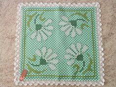 Embroidery Stitches, Embroidery Patterns, Hand Embroidery, Cross Stitch Patterns, Chicken Scratch Patterns, Chicken Scratch Embroidery, Bordado Tipo Chicken Scratch, Gingham Tablecloth, American Girl Crafts