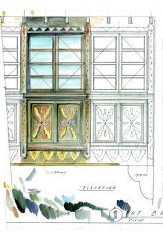 Detail Sketch by Jeff Shelton Architect for El Andaluz