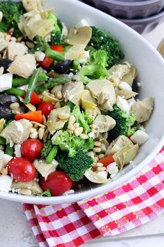 Greek Vegetable Salad with Homemade Greek Vinaigrette [Bake Your Day]