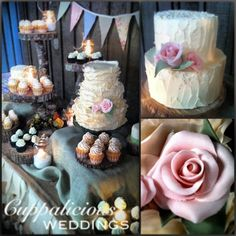 The 3 tier cake is lovely. 3 Tier Cake, Tiered Cakes, Rustic Wedding, Our Wedding, Wedding Ideas, August Wedding, People Fall In Love, Rustic Cake, Wedding Cupcakes