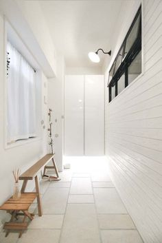 土間玄関、マンション、タイル、床、間接照明、マンションリノベーション、プラスエム・アーキテクツ