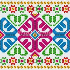 Padrão de inspiração para pintura de canecas mexicanas com canetas sharpies - II