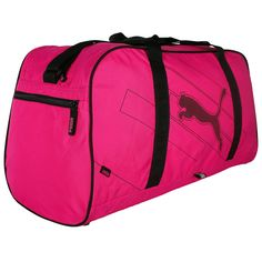 dd4da23205 Puma Bag Echo Holdall Sports Travel Gym Bag - Hot Pink Sports Bags, Gym Bag