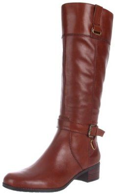 Bandolino Women's Cazadora Riding Boot.  $149.00 - $149.95            Classic equestrian-inspired style graces a country estate near you in Bandolino's Cazadora riding boot. This posh look in leather wins with a classic silhouette and buckles at the cuff and ankle for a touch of polish. A 1.5-inch heel and a grippy sole offer a perfect strut...
