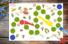 """Játékok gyerekeknek 1-3 éves korig ingyenes, egy társasjáték a legkisebbek számára """"Az első hodilka"""" print"""