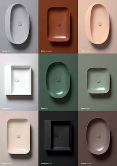 Bathroom sink varieties from Azzurra Ceramica. Which is your favorite? Lavabo Design, Bathroom Interior Design, Interior Modern, Interior Ideas, Vintage Modern, Home Living, Living Room, Colour Schemes, Bathroom Furniture
