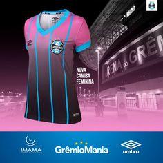 e0140344a8 Camisa feminina do Grêmio 2016-2017 Umbro Outubro Rosa