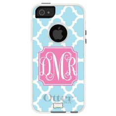 Monogrammed iPhone 4/4S OtterBox Case - Moroccan | Three Hip Chicks