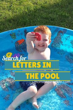 Search for Letters in the Pool - Mom Inspired Life. Try this as a Spanish activity for kids! It's a wonderful way to practice letters in Spanish this summer. http://mominspiredlife.com/search-letters-pool/