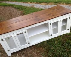 Custom Rustic Media Storage Console by KKFurniture on Etsy