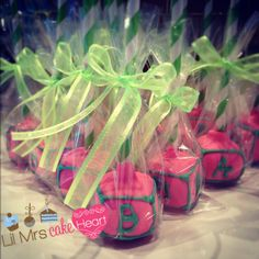 Vanilla Sprinkle chip Baby Shower Cakepop Favours - Lil Mrs Cake Heart