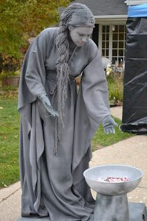 """As part of our haunted house this year, we wanted a living statue out front as a """"mild"""" scare and to help pass out candy. We also wanted it ..."""