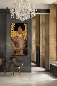 Gustav-Klimt-Judith-Head-of-Holofernes-Repro-Art-Canvas-Poster-Print-Wall-Decor