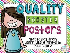 These FREE posters include three steps to writing a peer critique as outlined by Paul Solarz in the book Learn Like a Pirate. These strategies help students to be polite and meaningful about offering suggestions that boost the quality of their partner's work. Perfect to use in a writer's workshop.