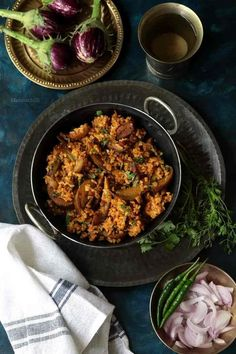 Brinjal Rice / Kathirikai Sadam with Brown Rice – Masalachilli - A Complete Vegetarian Food Experience!