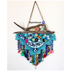 Turkish Eye, Diy And Crafts, Arts And Crafts, Diy Hanging, Hamsa, Woodworking Crafts, Dream Catcher, Weaving, Old Things