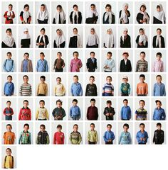 Picture of a grid of yearbook portraits from Class One at a school in Afghanistan
