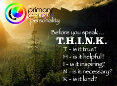 Isn't it time for you to think? Best colors Personality Test http://www.PrimaryColorsPersonality.com