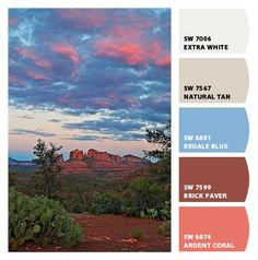 Paint colors from Chip It! by Sherwin-Williams- SEDONA, AZ