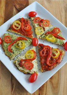 Perfect Paleo, Vegan Zucchini Pizza Crust