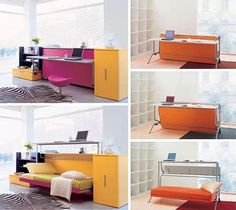 Clever pieces of changeable/modular furniture that adapt to different uses.