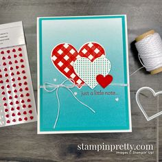 Valentines Day Cards Handmade, Valentine Crafts, Greeting Cards Handmade, Mary Fish, Stampin Pretty, Wedding Anniversary Cards, Heart Cards, Card Making Inspiration, Stamping Up