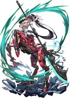 #原创 无题 - 基蛋的插画 - pixiv Anime Centaur, Anime Warrior, Cyberpunk Character, Cyberpunk Art, Fantasy Characters, Anime Characters, Character Concept, Character Art, Monster Girl Encyclopedia