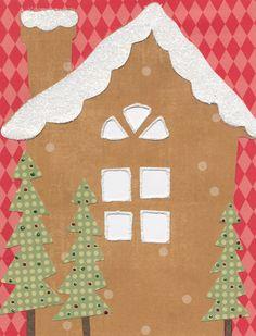 gingerbread house bulletin board idea