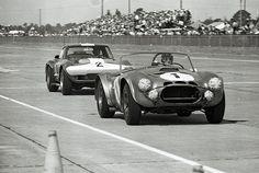 Sebring 1964 - Ken Miles' Cobra vs A.J. Foyt's Corvette by Nigel Smuckatelli, via Flickr