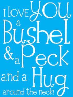 bushel and peck