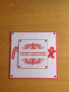 Simple embossed Christmas card