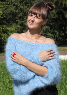 Gros Pull Mohair, Angora Sweater, Warm Outfits, Pullover, Knitwear, Feminine, Jumpers, Wool, Long Hair Styles