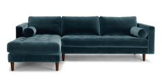 Sven Pacific Blue Left Sectional Sofa - Sectionals - Bryght   Modern, Mid-Century and Scandinavian Furniture