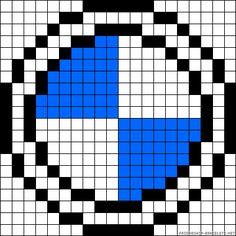 BMW logo van strijkkralen