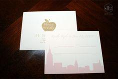 Lela New York NYC Themed Wedding Invitation