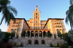 Coral Gables Biltmore Hotel, Coral Gables, Florida. A Mediterranean mansion hotel built with fountains, terraces and columned loggias, the legendary Coral Gables Biltmore Hotel in Miami has been a favourite of dignitaries, celebrities and the general public. It's also a favourite of guests long dead, who have chosen to stay behind.