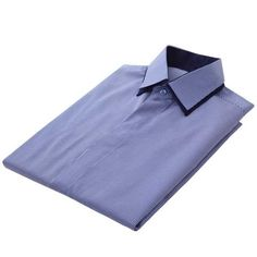 100% Cotton French Cuff Shirt - Navy Pinstripe    This particular number is crafted from 100% cotton that is styled with a clean cut silhouette and understated contrast detailing on the collars, sleeve cuff and plackets.