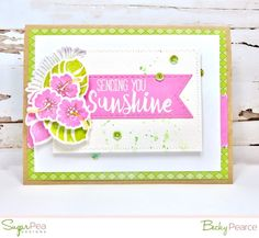 SugarPea Designs TROPIC LIKE IT'S HOT stamp set, die