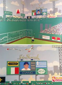 A Fenway Park Mural Fills A Corner With Fun! By Cheeky Monkey Home Www. Part 72
