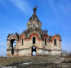 Abandoned 1874 church - Resurrection - Gurievo,Tver region,Russia.