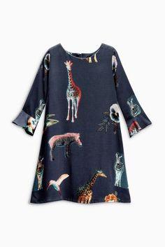 Buy Navy Animal Print Dress (3-16yrs) online today at Next: United States of America