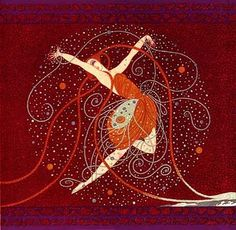 One of my favorite artists...Erte. He designed covers for Vogue Magazine and designed theater costumes