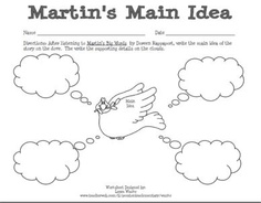 Main Idea worksheet to go along with Martin's Big Words.  Great for Martin L. King Jr. Day