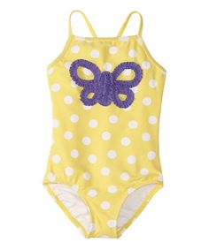 http://www.zulily.com/invite/vhanson979 Take a look at this Sunshower Dot One-Piece - Infant, Toddler & Girls by Hanna Andersson on #zulily today!